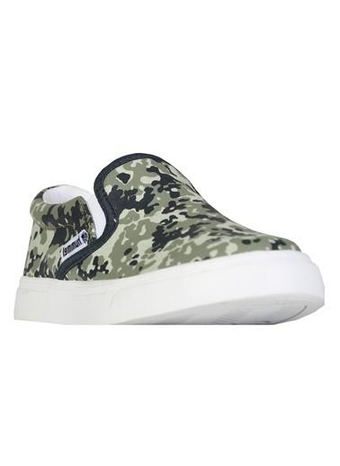 Hummel Çocuk Ayakkabı Slip-On Camo 64353-6754 Yeşil